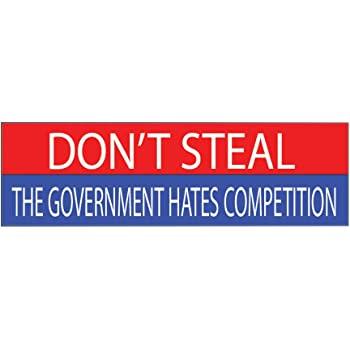 American 10x3 Patriotic Bumper Sticker Auto Decal Conservative Republican American and Proud USA Flag American Patriot