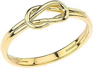 Modern 10k Yellow Gold Hercules Love Knot Promise Ring