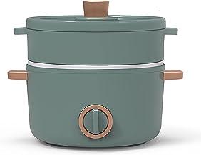 Rijstkoker (1,5 L) Huishoudelijke Multifunctionele Mini Rijstkoker/Koekenpan/Wok/Soeppot, Keramische Non-Stick Inner Pot, ...