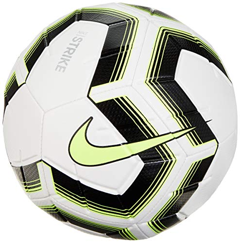 Nike Unisex-Erwachsene Strike Team Ball, White/Black/Volt/Volt, 5