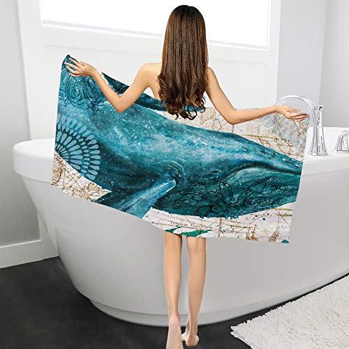 HULDORO Tortilla de baño de Tortuga de mar Toallas de baño de Dibujos Animados Pulpo Impreso Poliéster Toallas de Playa for Mujer Adulta Toalla (Color : 4, Size : 1500x700mm)