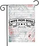 YeeATZ Wife Mom Boss Double Sided Flag 12x18 Inch Courtyard Balcony Durable Flag...