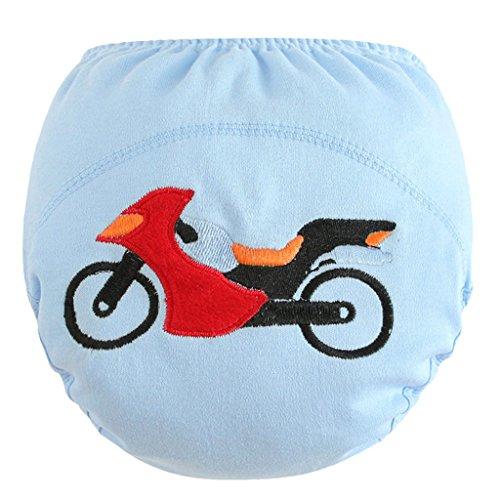 B Blesiya Couche Lavable Enfant Bébé Fille Garçon Culotte d'Apprentissage Anti-Fuite - moto, 80 (11 kg)