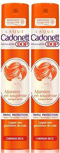 cadonett DOP–Laca mantenimiento en Souplesse larga duración Triple Protección para cabello secas–300ml–juego de 2