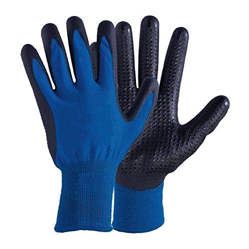 Winterhandschuhe - 10 Paar - Touchscreen kompatibel Strickhandschuhe - Montagehandschuhe - Arbeitshandschuhe - Nach EN 388/EN 511/EN 407 Gr. 10 - Farbe: blau/schwarz