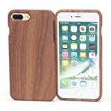 "【HAIKAU】 iPhone8 plus 5.5インチ / iPhone7 plus 5.5インチ 木製ケース 上質な天然ウッド ハードケース アイフォン7 5.5"" Wood Case for iPhone8/7 plus くるみ"