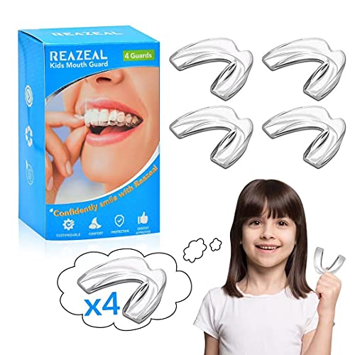 Mouth Guard for kids, kids mouth guard for teeth grinding At Night – Effective Night Guard for Clenching, Bruxism, and Grinding Issues –Dental Guard for 9 to 15 years old Children– 4 Pack