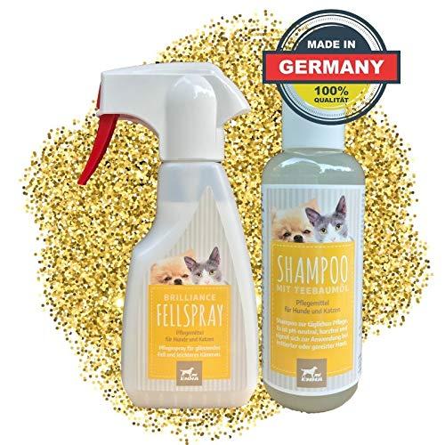 EMMA® Coat Spray & Dog Shampoo I Tea Tree Oil Shampoo I Coatverzorging voor honden & katten I Tegen geurtjes I 2 x 250 ml