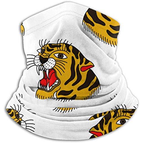 WARmin Hals Gamasche Rohr Gesichtsmaske Tiger Traditionelle Tattoo Flash Ultimate Thermal Retention