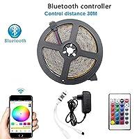 プレミアム ベッドルーム用LEDストリップライト、LEDストリップライトリモートのBluetooth RGB 2835 SMD柔軟なLEDストリップライト付き プロフェッショナル&アップグレード済み (Color : RGB Bluetooth Set IP65 WP, Size : 10M)