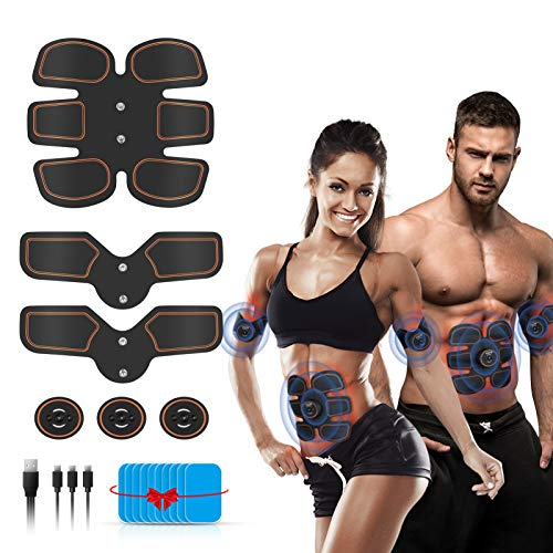 Abs Stimulator Muscle Toner, EMS Muscle Stimulator Muscle Trainer with 6 Modes and 9 Levels Training Device for Muscles, Muscle Sculpting at Home, Fitness Equipment