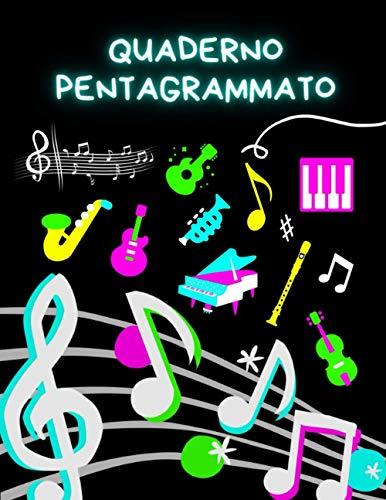 Quaderno Pentagrammato A4, 100 pagine, 14 Pentagrammi per Foglio, 21 x 29,7 cm: Fogli Pentagrammati di Musica, Pentagramma per tutti gli Strumenti Musicali