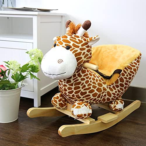 Kinbor Kids Rocking, Plush Giraffe for Baby -  with sound