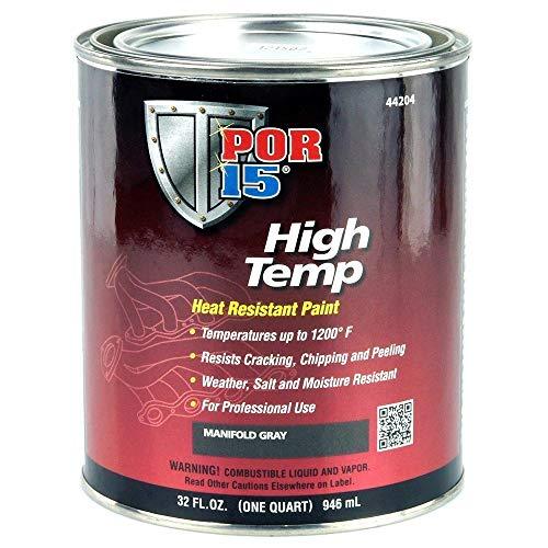 POR-15 44204 Gray High Temperature Paint Manifold - 1 quart
