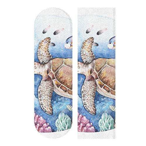 MNSRUU Korallenriff Fisch Schildkröte Skateboard Grip Tape Sheet Scooter Deck Sandpapier 22,9 x 83,8 cm