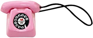 Gbell Mini Telephone Phone Model for 1/12 or 1/6 Scale Miniature Decoration, Kids Girls Dollhouse Accessories Toy (Pink)