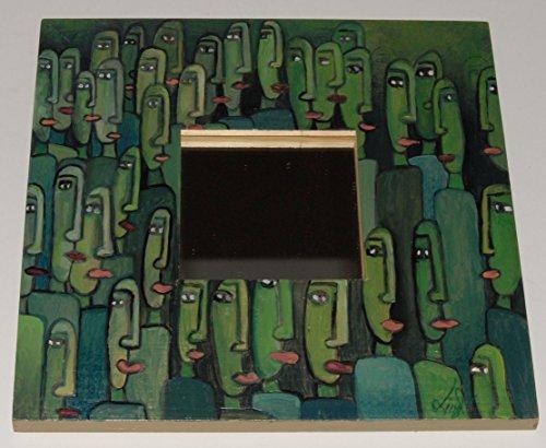 Spiegel aus Holz, Menschen, Wanddekoration, Spiegel, Original