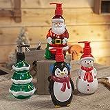 B4E Seifenspender, Weihnachtsmotiv, Schneemann, Weihnachtsbaum, Weihnachtsmann und Pinguin