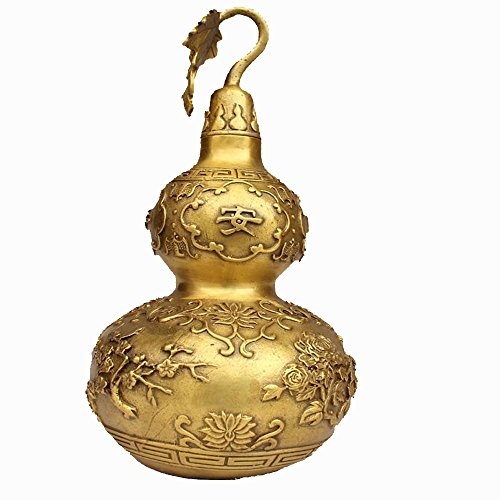 HDHUA woonkamer slaapkamer decoratie puur koper vier seizoenen veiligheid kalebas in een bronzen product van Fengshui Rathaus gebruikt ter afweer van boze geesten.