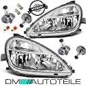 DM Autoteile 2x A-Klasse W168 Scheinwerfer Set H7/H4 Facelift 01-04 Klarglas +Nebel