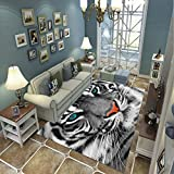 LGXINGLIyidian Alfombra Tigre Gigante Creativo Alfombra Suave Antideslizante De Decoración del Hogar De Impresión 3D 80X150Cm