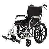 XUSHEN-HU Silla médica de rehabilitación, sillas de ruedas, silla de ruedas plegable 13Kg ergonómico avanzado cómodo ligeros respaldo regulable Piernas 100Kg de carga del cojinete 49 * 38 cm del asien