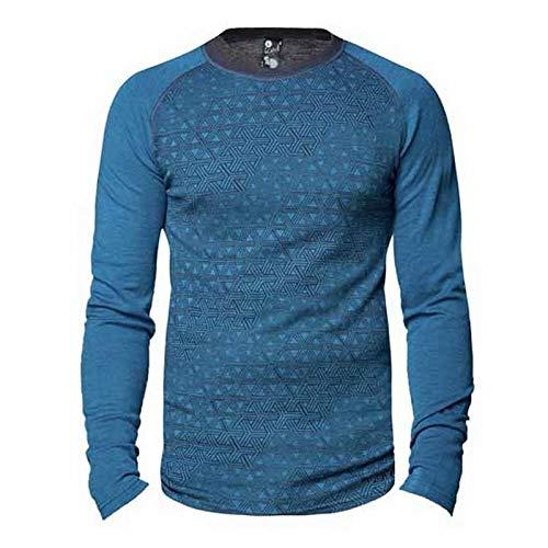 Bula GEO Crew Blue L T-Shirt pour Homme
