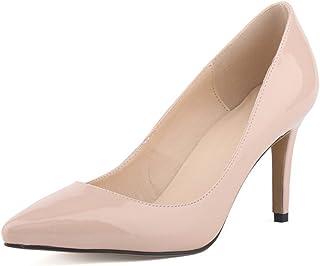 41d38b4101deb5 OCHENTA Femme Escarpins Talon Aiguille en PU Cuir Verni Classique Mode  Soiree Mariage Chaussures