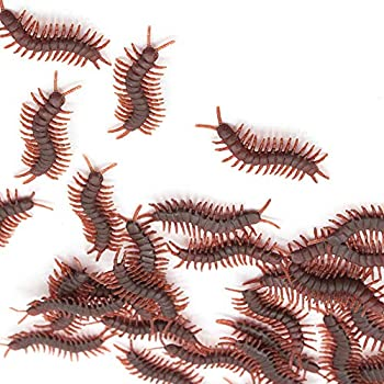 X Hot Popcorn 60 Pcs Fake Centipedes Simulated Centipedes Insect Prank Toys for Halloween Party Favors and Decoration