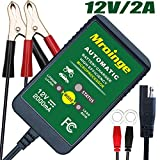 Mroinge 12V 2A Lead Acid/Lithium(LiFePO4) Automatic Trickle Battery Charger Smart Battery Maintainer