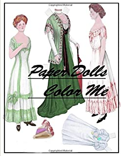 Paper Dolls Color Me: Grayscale Coloring Book