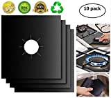 Gas Stove Burner Covers 10 Pack- XZSUN 0.2mm Double Thickness Reusable Gas Range Protectors For...