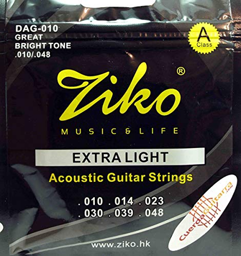 Ziko .010s Acoustic Guitar Strings Extra Light