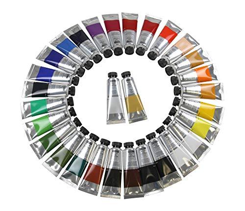 Meister Feine ÖLFARBE 30 Tuben a 50 ml, original MAGI hochwertige Künstler-Farben, 30 Verschiedene Farbtöne