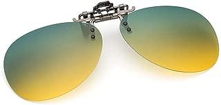 Gafas de sol unisex clip on gafas polarizados visión nocturna, ajuste cómodo y seguro sobre gafas de sol para conducción y al aire libre