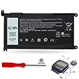 WDX0R Dell Laptop Battery for Dell Inspiron 15 5000 7000 Series 5567 5565 5568 5570 5578 7560 7569 7570 7579, 13 5368 5378 5379 7368 7378, 17 5767, 14 7460 (3CRH3 T2JX4 CYMGM FC92N) 42Wh/11.4V