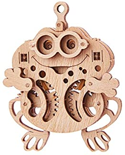 Wood Trick ウッドトリック ウディックシリーズ カエル 動かして遊べる3Dウッドパズル / 木製模型