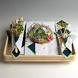 結納返し-略式結納品- 桜桃(ゆすら・青)セット(毛せん・風呂敷付) 結納屋さん.com r7201-01
