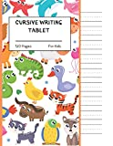 Cursive Writing Tablet For Kids: 120 Pages of Letter Size Tablet Paper With Wide Lines   Includes Page Numbers, Date Fields, and a Cursive Alphabet.