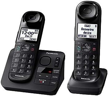 Panasonic KX-TGL432B Dect 6.0 2-Handset Landline Telephone Black  Renewed