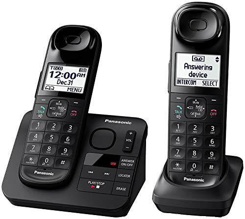Panasonic KX-TGL432B Dect 6.0 2-Handset Landline Telephone, Black (Renewed)
