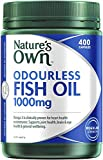 Nature's Own Odourless Fish Oil 1000mg - Source of Omega-3 - Maintains Wellbeing