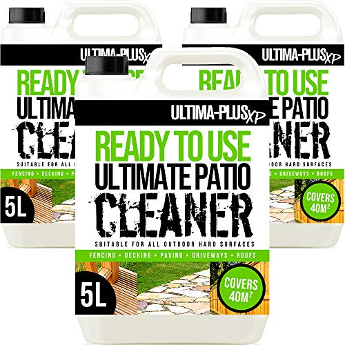 Ultima-Plus XP Ready to Use Ultimate Patio Cleaner Perfect for Patios, Fencing and Decking to Deeply Clean - Easy to Use Fluid (15 Litres)