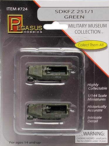 Pegasus pg0724–1/144sdkfz 251/1fertigi Modelo plástico Maqueta de, 2Unidades, Color Verde