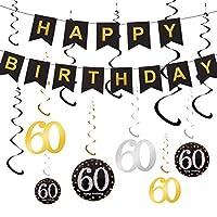 ❤ Hohe Qualität: Das Geburtstagsbanner besteht aus hochwertigem Karton, Hängestrudel aus glänzender Folie, sowohl langlebig als auch wiederverwendbar. Sie können es für die Geburtstagsveranstaltungen Ihrer Familie und Freunde wiederverwenden, um Geld...