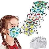 Blingko 5 Stück Kinder Mundschutz 3D-Sternendruck Waschbar AtmungsaktivWiederverwendbar...