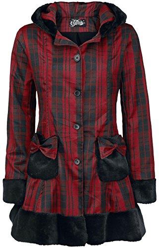 Vixxsin Elsa Coat Girl-Mantel rot/schwarz XL