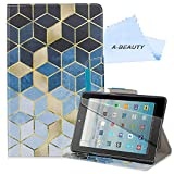 A-BEAUTY Case for Amazon Fire HD 10 (9th/7th Gen, 2019/2017 Release) with Screen Protector, Premium Leather Smart Card Slot Stand Cover, Sudoku