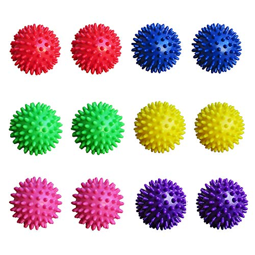 Unibest Igelball Massageball Noppenball 6,5cm 12er-Set