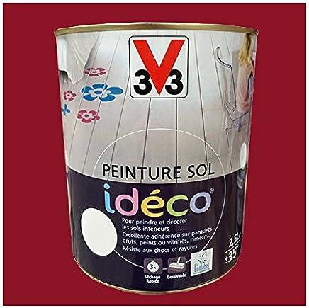 Peinture Sol Idéco 2 5l V33 Sols Idéco Terre Rouge Amazon